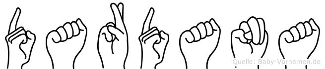 Dardana in Fingersprache f�r Geh�rlose
