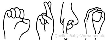Erpo in Fingersprache für Gehörlose