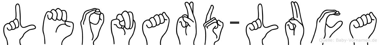Leonard-Luca im Fingeralphabet der Deutschen Gebärdensprache