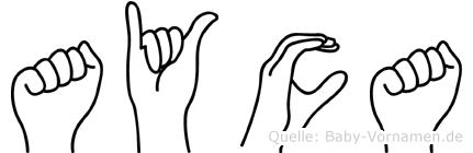Ayca im Fingeralphabet der Deutschen Gebärdensprache