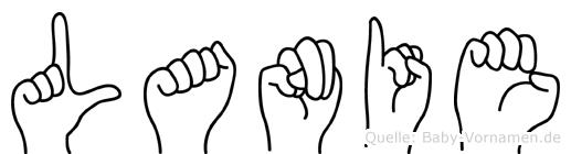 Lanie im Fingeralphabet der Deutschen Gebärdensprache