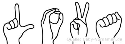 Lova in Fingersprache für Gehörlose