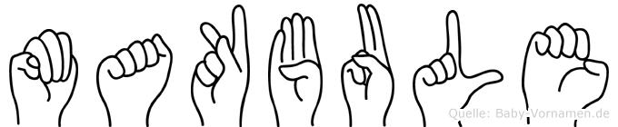 Makbule im Fingeralphabet der Deutschen Gebärdensprache
