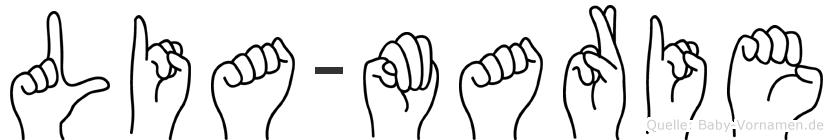 Lia-Marie im Fingeralphabet der Deutschen Gebärdensprache