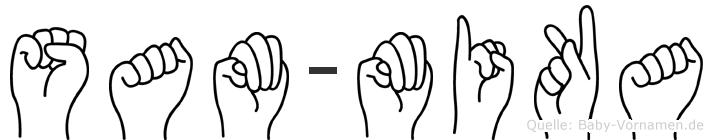 Sam-Mika im Fingeralphabet der Deutschen Gebärdensprache