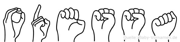 Odessa in Fingersprache für Gehörlose