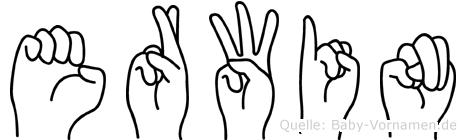 Erwin in Fingersprache für Gehörlose