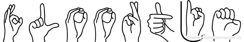 Floortje in Fingersprache für Gehörlose