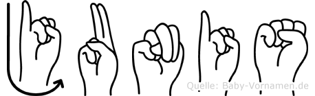 Junis in Fingersprache für Gehörlose