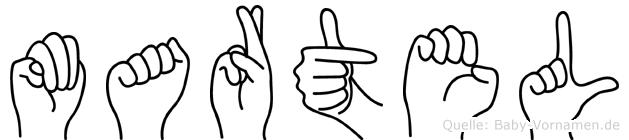 Martel in Fingersprache für Gehörlose