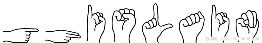 Ghislain im Fingeralphabet der Deutschen Gebärdensprache