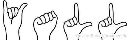 Yall im Fingeralphabet der Deutschen Gebärdensprache