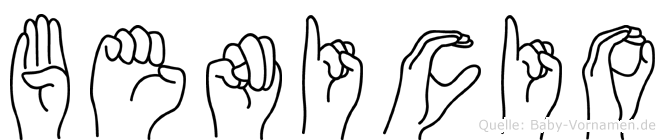 Benicio im Fingeralphabet der Deutschen Gebärdensprache