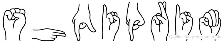 Shqiprim im Fingeralphabet der Deutschen Gebärdensprache