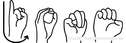 Jone in Fingersprache für Gehörlose