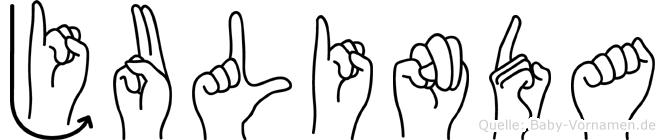 Julinda in Fingersprache für Gehörlose