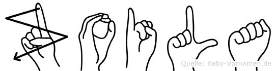 Zoila in Fingersprache für Gehörlose