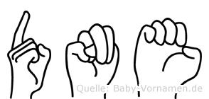 Döne im Fingeralphabet der Deutschen Gebärdensprache