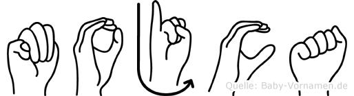 Mojca in Fingersprache für Gehörlose