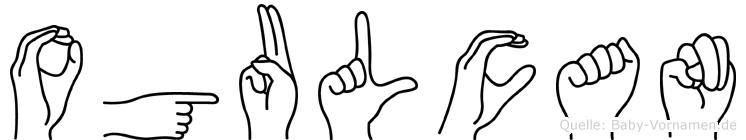 Ogulcan im Fingeralphabet der Deutschen Gebärdensprache
