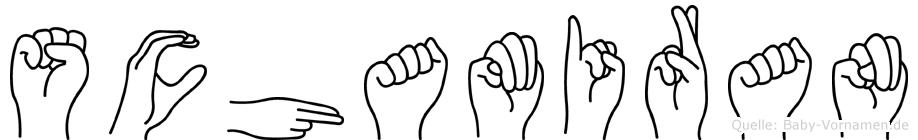 Schamiran im Fingeralphabet der Deutschen Gebärdensprache