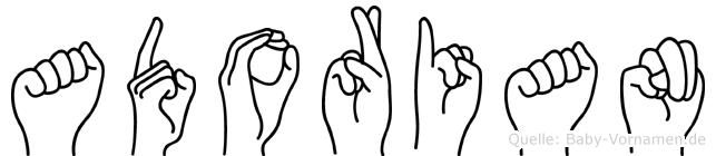 Adorian in Fingersprache für Gehörlose