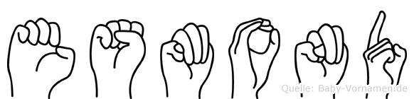 Esmond im Fingeralphabet der Deutschen Gebärdensprache