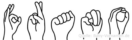 Frano in Fingersprache f�r Geh�rlose