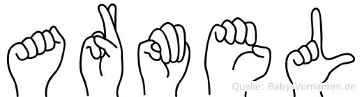 Armel im Fingeralphabet der Deutschen Gebärdensprache