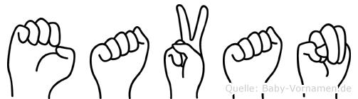 Eavan in Fingersprache für Gehörlose
