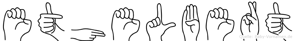 Ethelbert im Fingeralphabet der Deutschen Gebärdensprache