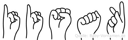 Iisak im Fingeralphabet der Deutschen Gebärdensprache