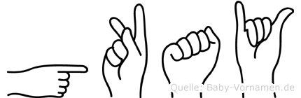 Gökay in Fingersprache für Gehörlose