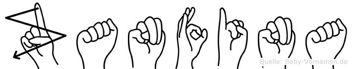 Zanfina in Fingersprache für Gehörlose