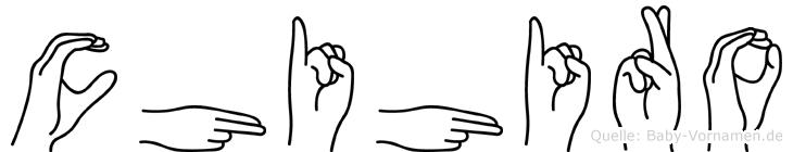 Chihiro in Fingersprache für Gehörlose
