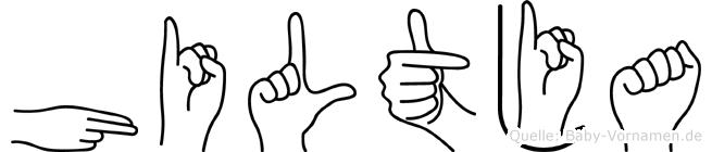 Hiltja in Fingersprache für Gehörlose