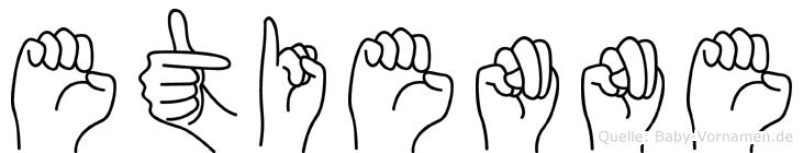 Etienne in Fingersprache für Gehörlose