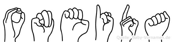 Oneida in Fingersprache für Gehörlose