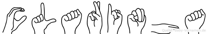 Clarinha im Fingeralphabet der Deutschen Gebärdensprache