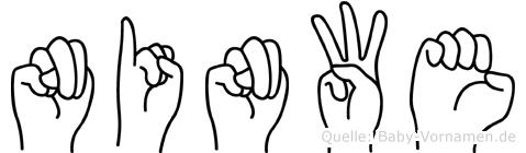 Ninwe in Fingersprache für Gehörlose