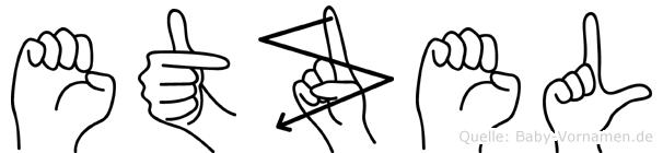 Etzel in Fingersprache für Gehörlose