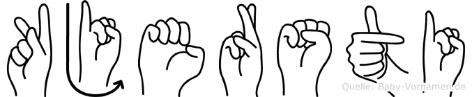 Kjersti im Fingeralphabet der Deutschen Gebärdensprache