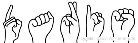 Daris in Fingersprache für Gehörlose