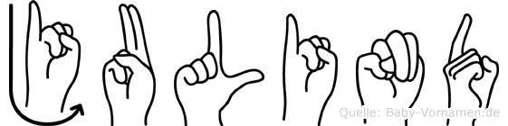 Julind in Fingersprache für Gehörlose