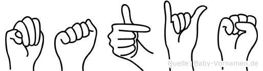 Matys im Fingeralphabet der Deutschen Gebärdensprache