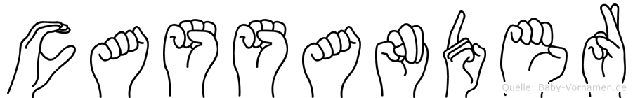 Cassander in Fingersprache für Gehörlose