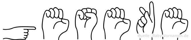 Geseke in Fingersprache für Gehörlose