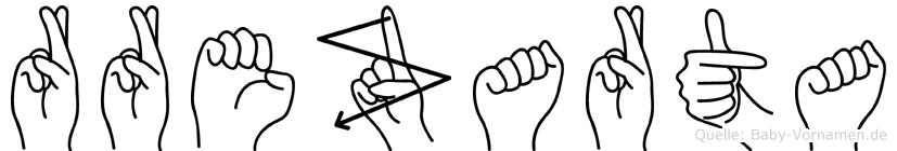 Rrezarta in Fingersprache für Gehörlose