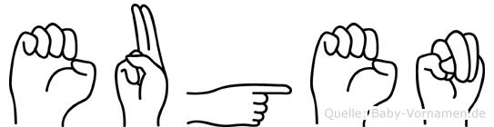 Eugen in Fingersprache für Gehörlose