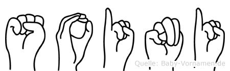 Soini im Fingeralphabet der Deutschen Gebärdensprache